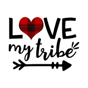 Download Love my Tribe svg Tribe svg Plaid svg Valentines S Men's T ...