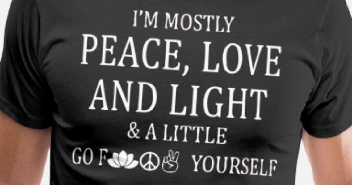 Download I'm mostly peace love and light and a little Men's Premium ...