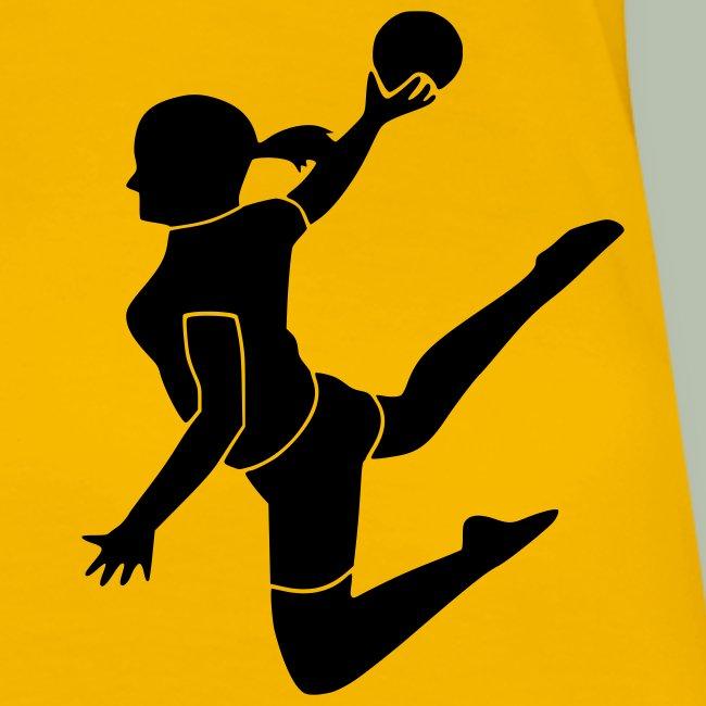 handballerin 2farbig frauen premium t shirt