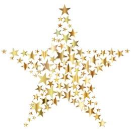 goldener Stern mit kleinen Sternen gefüllt Thermobecher | Spreadshirt