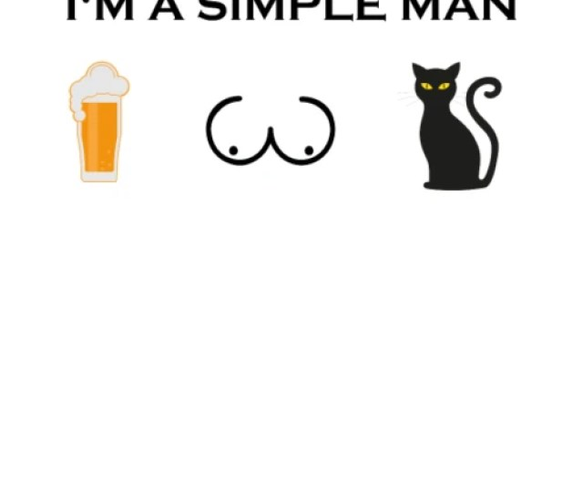Simple Man Boobs Beer Beer Tits Cat Png Mens Premium T Shirt Spreadshirt