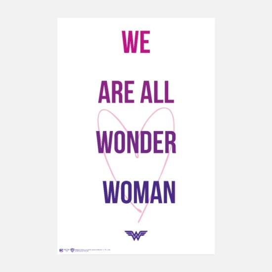 wonder woman we are all wonder woman poster weiss
