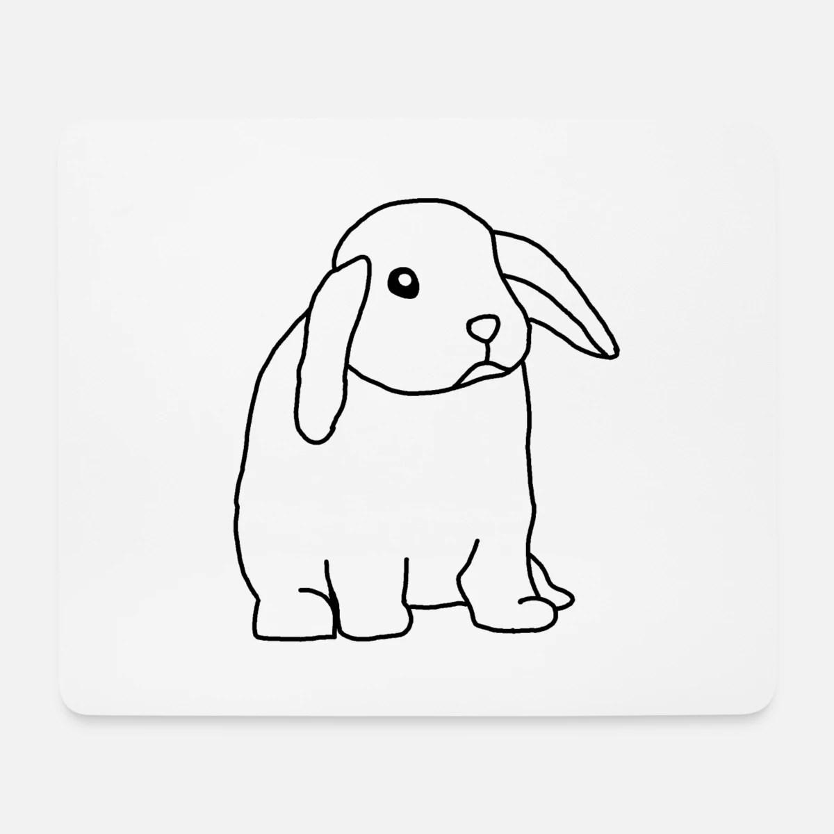 lapin lapin lapin nain lapin de paques doux tapis de souris blanc