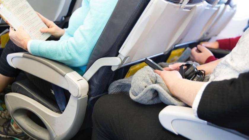 Asientos en el avión.