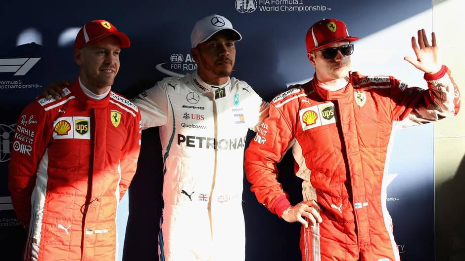 Formel 1 Hamilton Deklassiert Ferrari Duo Bei Qualifying