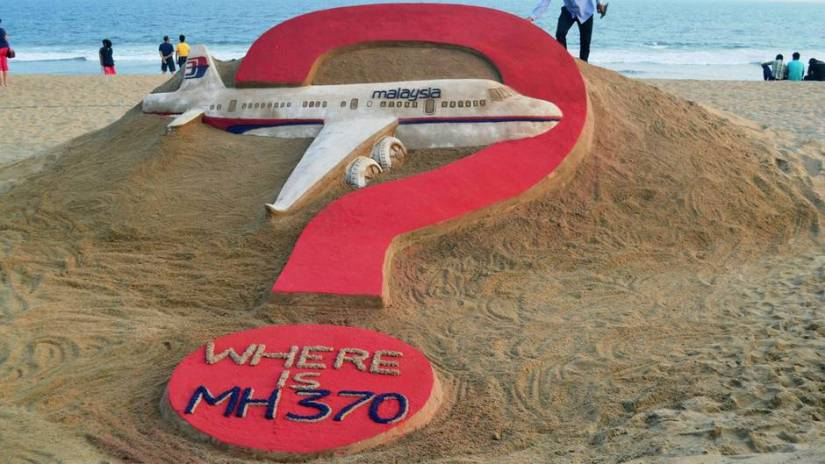 Flight MH370 in Southeast Asia disappeared on March 8, 2014, since only a handful of parts were found.