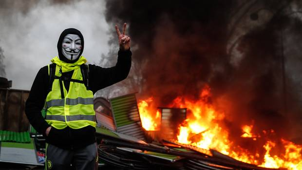 The violent protests of the yellow jackets show the effect