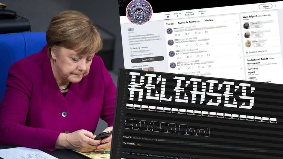Auch Daten von Bundeskanzlerin Angela Merkel sind auffindbar, deren Echtheit bestätigte die Bundesregierung bislang nicht
