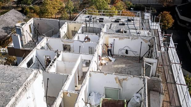 Rückbau: Alle Wohnungen gen wurden erst entkernt und von Asbest befreit
