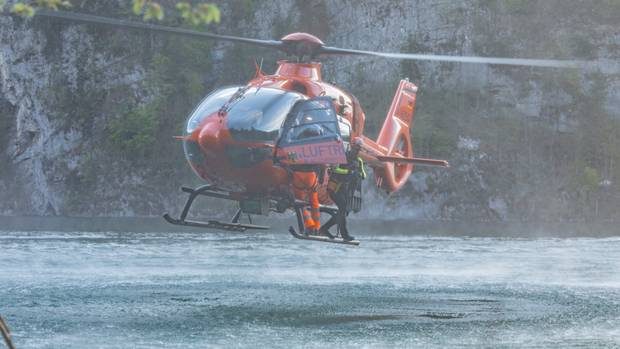 Rescue helicopter when used on the Koenigssee