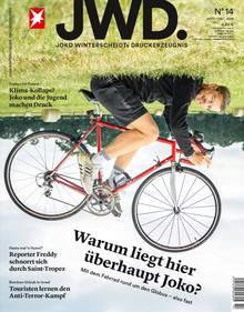 Joko Winterscheidt auf dem Cover der JWD, Ausgabe 14