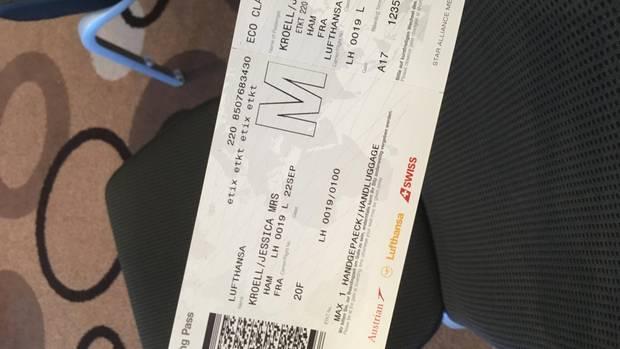 Un boleto de avión a Frankfurt