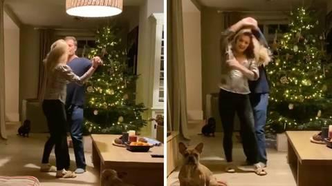 Til Schweiger Dances With Daughter Luna In Front Of The