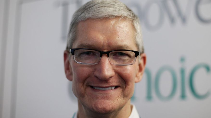 Has reason to be happy in view of the shiny numbers: Apple boss Tim Cook