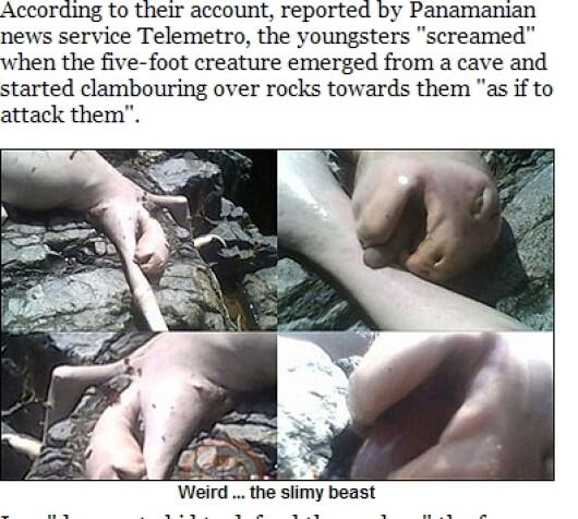 Monstrul dintr-un lac din Panama!