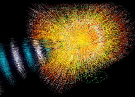 Simulare explozie particule accelerator LHC