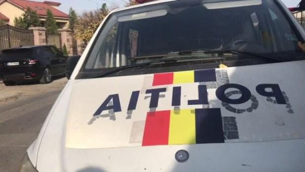 police car at Niculae Badalau