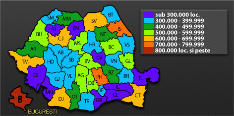 Harta populatie