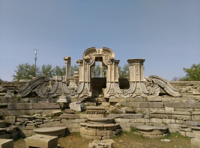 55 Beijing-圓明園 英法聯軍毀的差不多了 但還是被列入世界文化遺產
