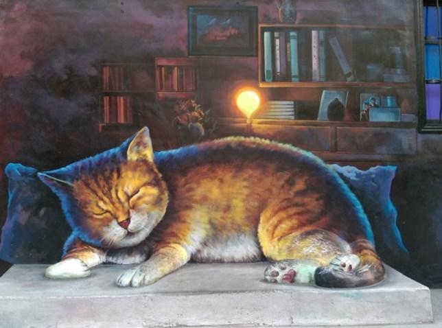13 虎尾-頂溪 屋頂上的貓 可愛的彩繪社區