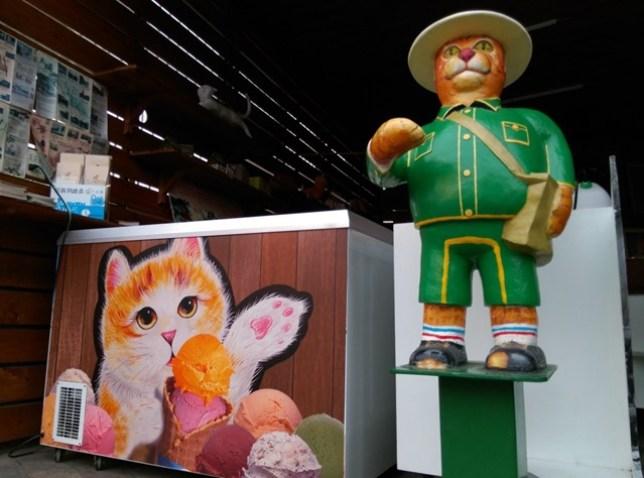 17 虎尾-頂溪 屋頂上的貓 可愛的彩繪社區