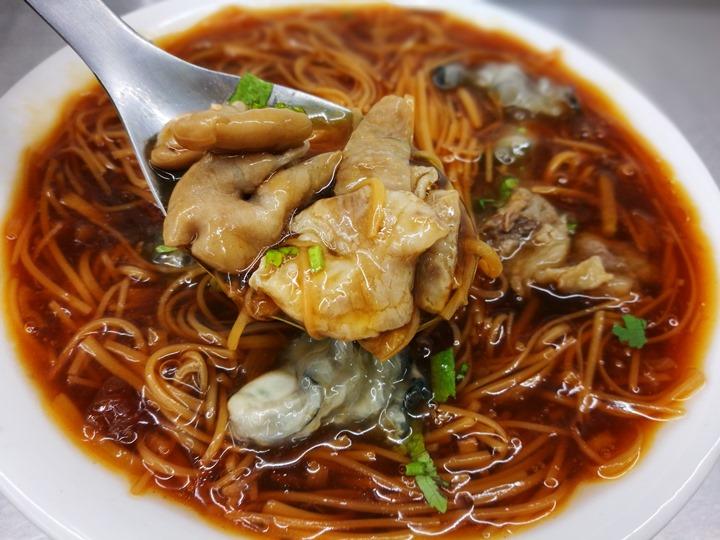 sanfu0111 竹北-三福麵線 可以正餐也可以宵夜的大腸蚵仔牛肉麵線
