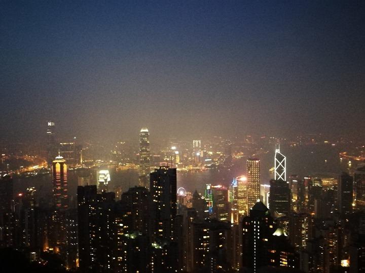 thepeak21 HK-擁擠的太平山The Peak 太平山夜景香港城市的擁擠