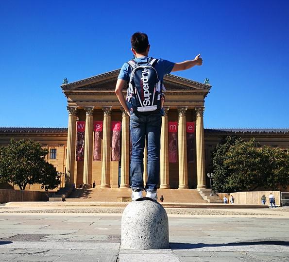 Philly41 Philadelphia-羅丹博物館看雕塑/費城藝術博物館 深植人心的拳王洛基拍攝處