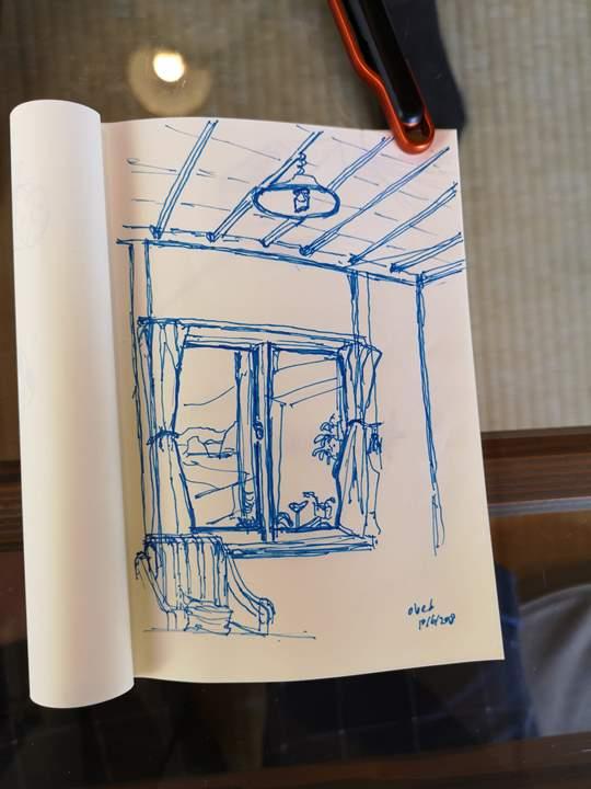 konichiwa20 Naoshima-Cafe Konichiwa直島本村港旁 可愛海景咖啡館