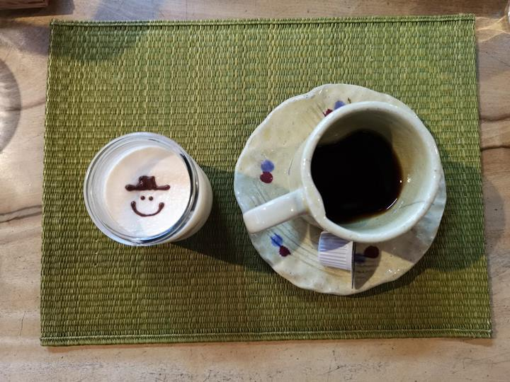 yuurinann07 Kurashiki-有鄰庵 倉敷老屋幸福布丁與特色美臀玻璃杯水蜜桃果汁