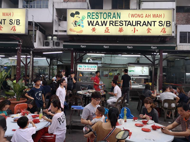 WAW01 Kuala Lumpur-吉隆坡必訪亞羅街夜市街 名店黃亞華 推薦烤雞翅與鹹蛋魷魚