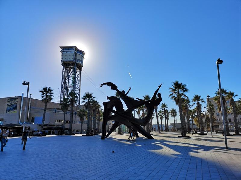 barcelonabeach21 Barcelona-嗨!地中海你好!! 巴塞隆納海岸Platja de la Barceloneta 海天一線超美