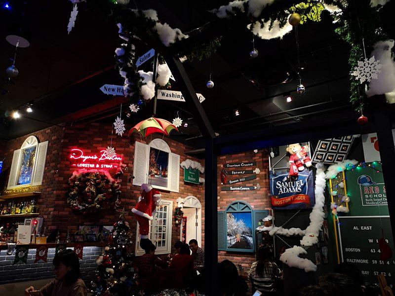 wayne04 中山-Wayne's Boston美式餐廳的海陸大餐龍蝦彈牙肋眼軟嫩 意外的耶誕大餐