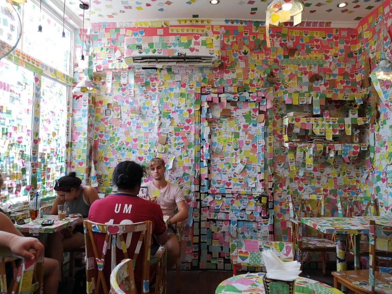 thenotecoffee08 Hanoi-河內The Note Coffee環劍湖旁 滿滿便利貼的人氣咖啡館 小巧溫馨