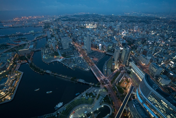 DSC05230 Yokohama-來地標Landmark大樓 賞橫濱港夜景