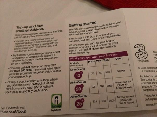 SIM34 London-倫敦預付卡3 Telecom Pay As You Go有網路語音旅遊更便利