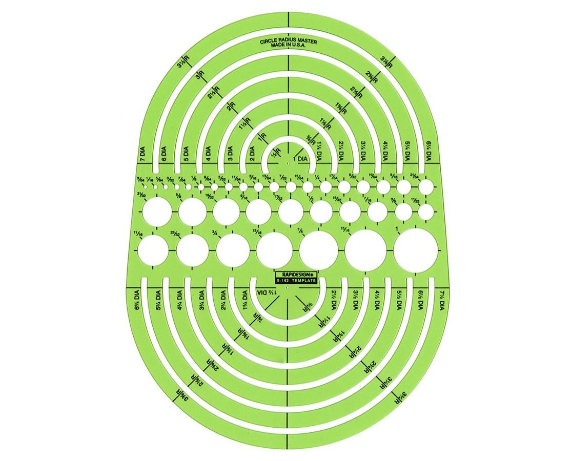 Rapidesign Circle Radius Master Template Tiger Supplies