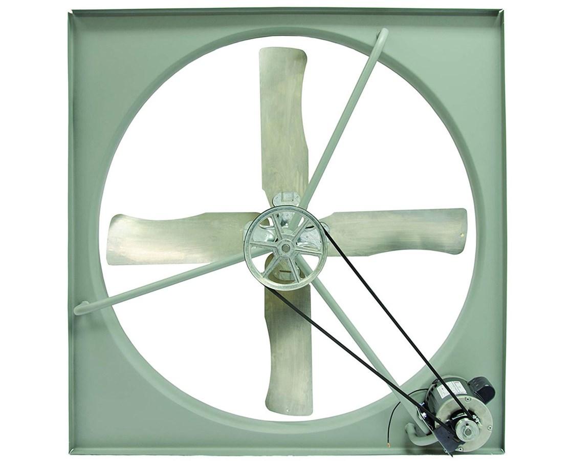 commercial belt drive exhaust fan shutters