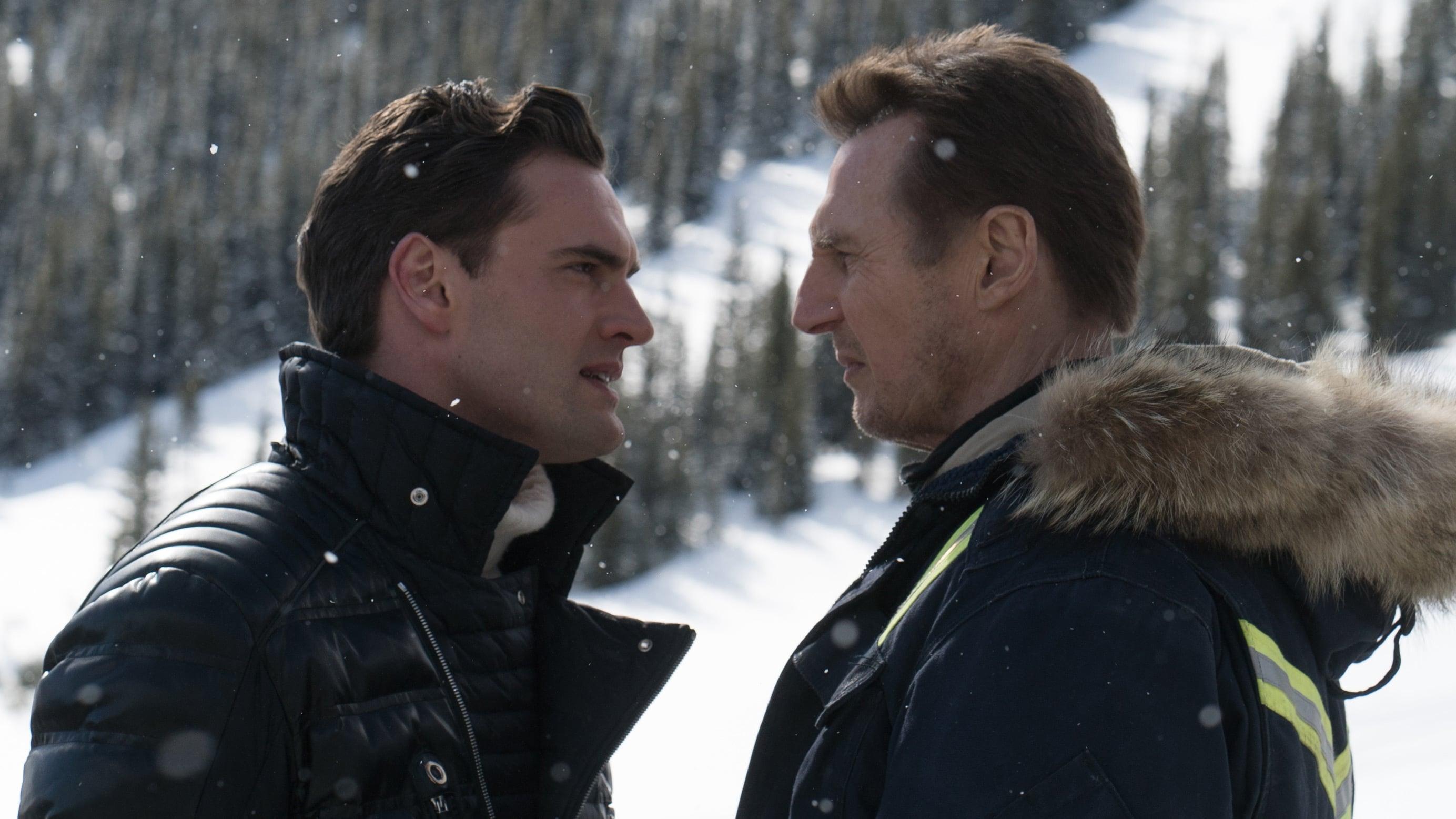 Tom Bateman as Viking against Liam Neeson as Nelson Coxman in Cold Pursuit (2019)