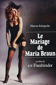 Le mariage de Maria Braun streaming vf
