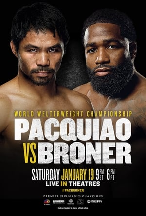 Poster Movie Pacquiao vs. Broner 2019