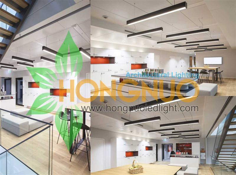 duplex building lighting project residential led linear pendant light led architectural linear pendant villa lighting multi family residential duplex led led linear suspension pendant lighting manufacturer supplier factory hongnuo architectural