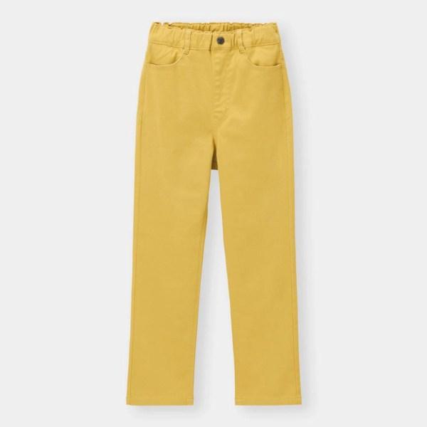 KIDS(男女兼用)ストレッチカラーストレートパンツ-YELLOW
