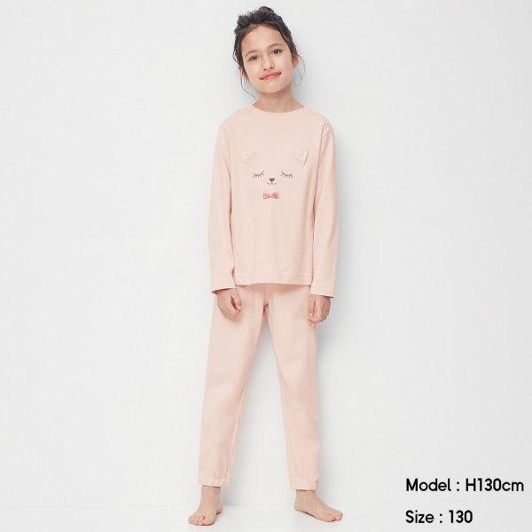 GIRLSラウンジセット(長袖)-PINK