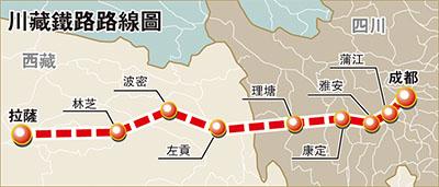 川藏鐵路成都至雅安段開建 - 香港文匯報