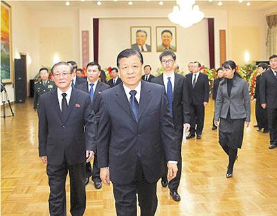 劉雲山出席朝使館金正日逝世三周年紀念 - 香港文匯報