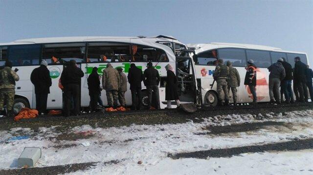 Kazanın ardından olay yerine çok sayıda ambulans, arama kurtarma ekibi ve jandarma sevk edildi.
