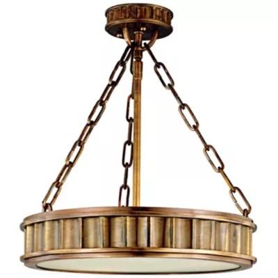 middlebury round semi flushmount light