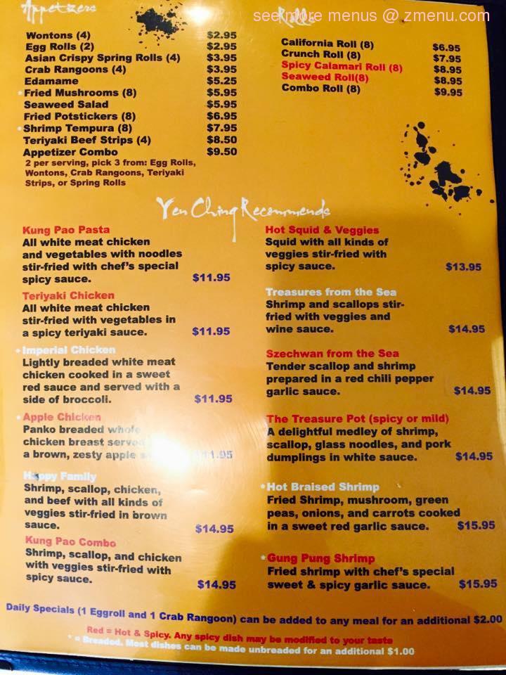 Online Menu Of Yen Ching Restaurant Ozark Missouri