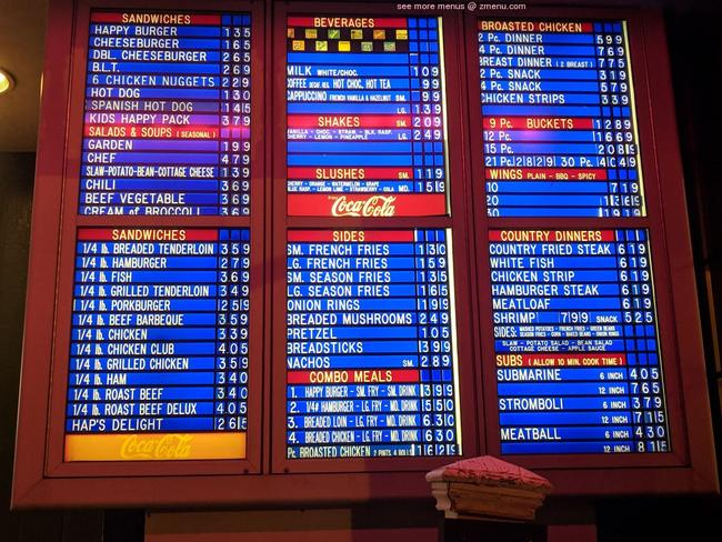 Online Menu of Mr. Happy Burger Restaurant, Logansport ...
